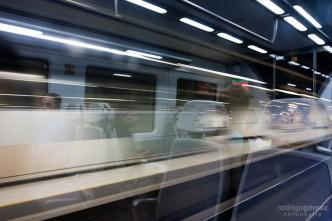 En el tren, Barcelona